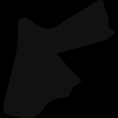 Jordan black country map shape vector logo