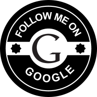 Follow me on google vector