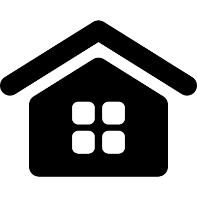 Home interface symbol with a window of squares vector logo