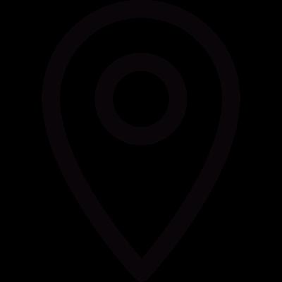 Small pin shape vector logo