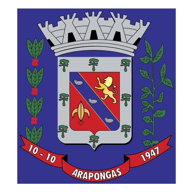 Brasao da Cidade de Arapongas PR 82433 vector