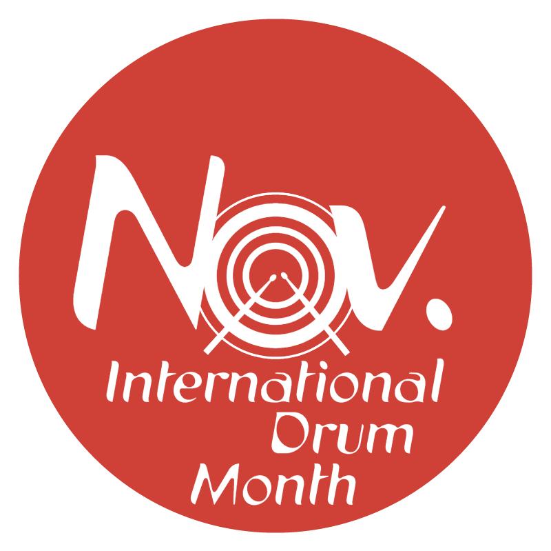 International Drum Month vector