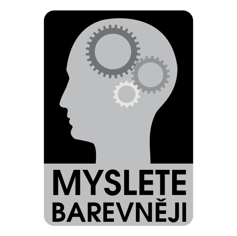 Myslete Barevneji vector logo