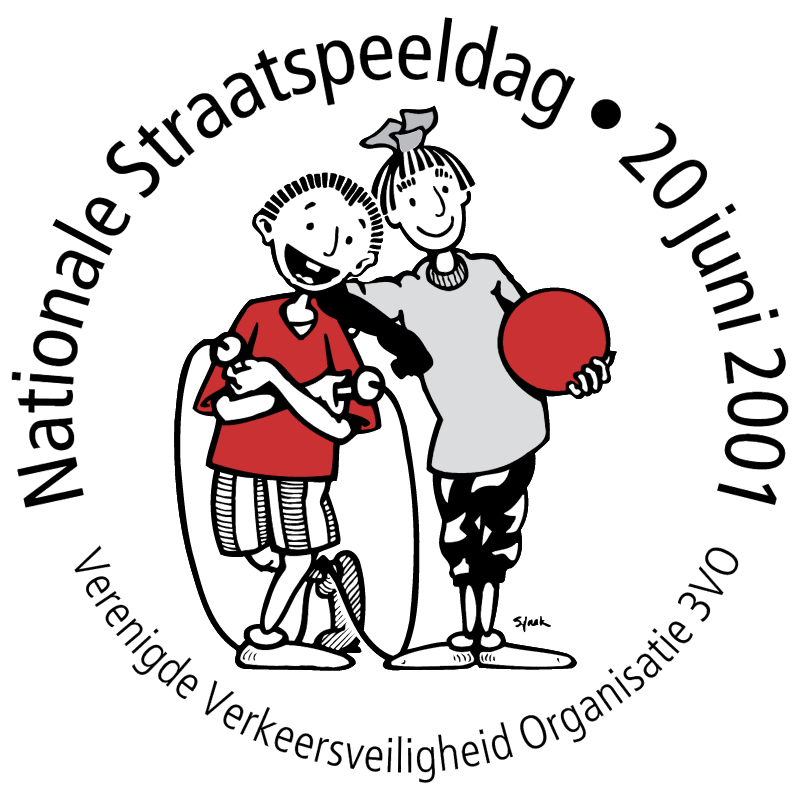 Nationale Straatspeeldag 20 juni 2001 vector