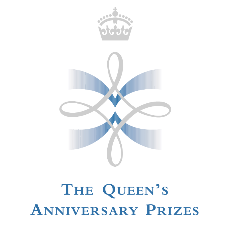 The Queen's Anniversary Prizes vector