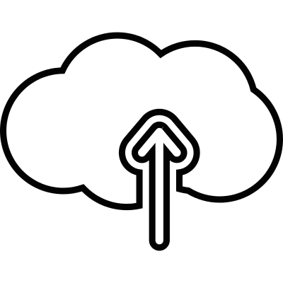 Upload to cloud vector logo