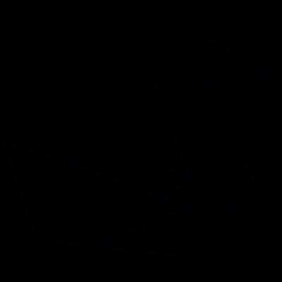 Paper bird, IOS 7 interface symbol vector logo