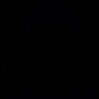 Boy close up symbol of verified user vector
