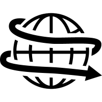 Earth with spiral arrow around vector
