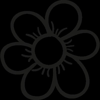 Garden Daisy vector logo