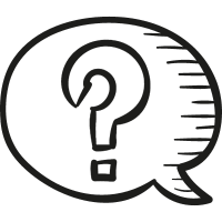 Speech Bubble with Question Mark vector