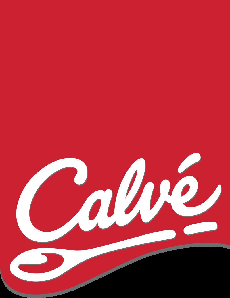 Calve logo with red label vector logo