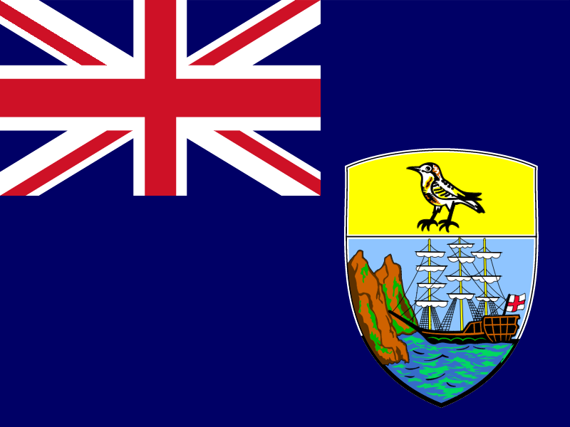 Flag of Saint Helena, Ascension and Tristan da Cunha vector