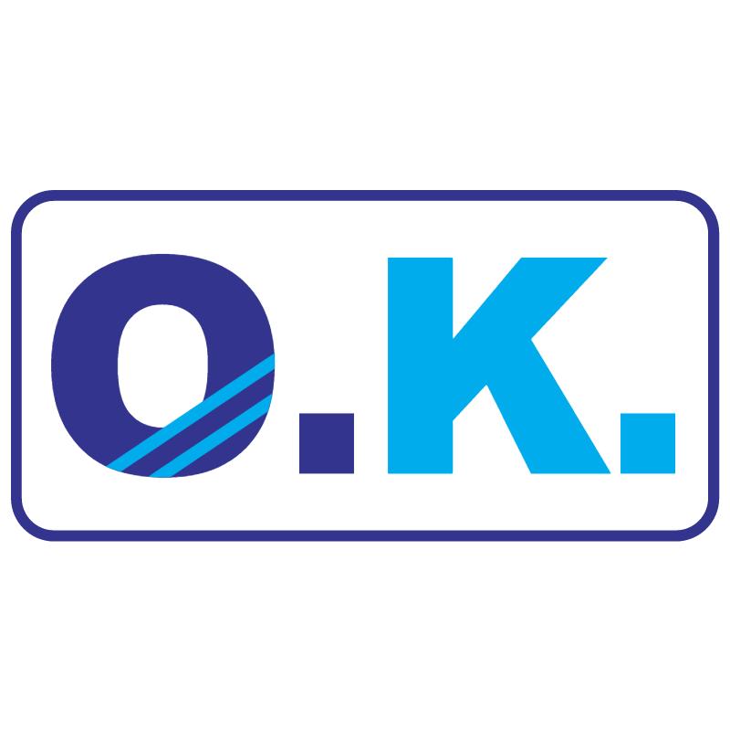 O K vector logo