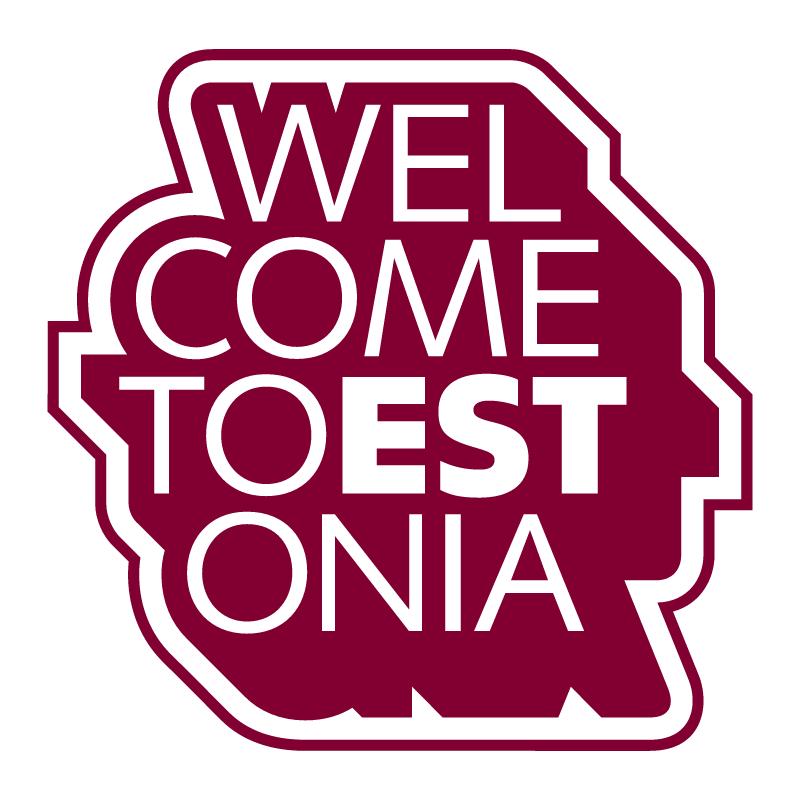 Welcome to Estonia vector