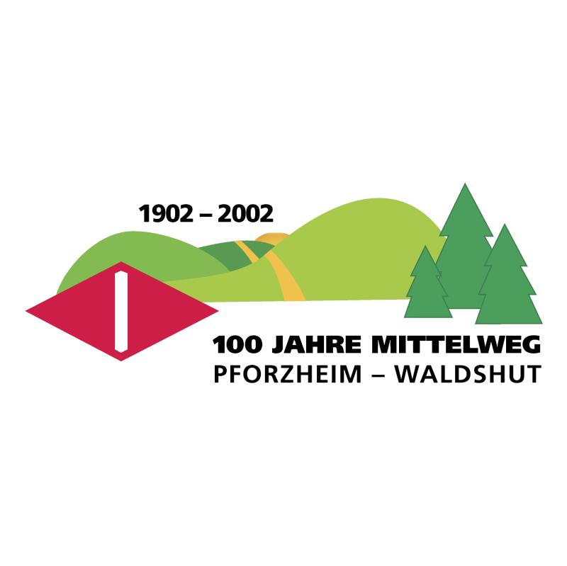 100 Jahre Mittelweg vector