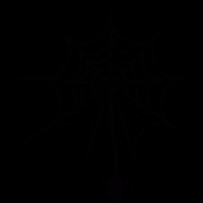 Spider hanging of  web vector logo