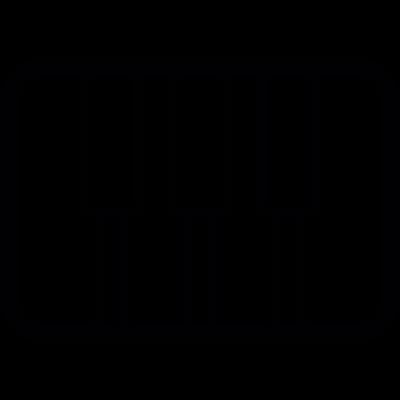 Piano keys vector logo