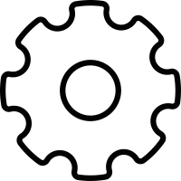 Settings Cogwheel vector