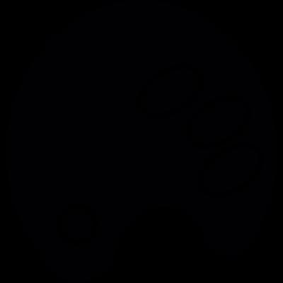 Paint color palette vector logo