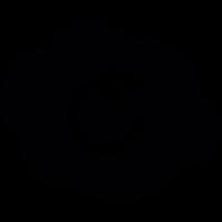 Rotating arrow on a cloud vector
