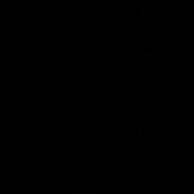 Rain drops, IOS 7 interface symbol vector logo