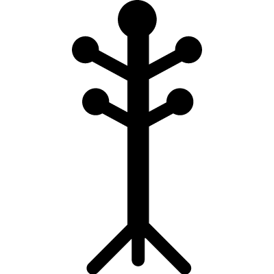 Coat stand livingroom furniture vector logo