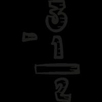 School Subtraction vector
