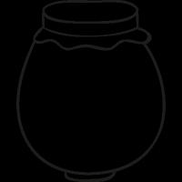 Mermelade jar doodle vector