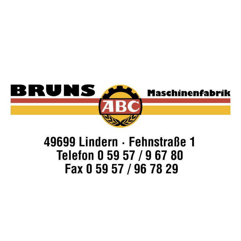 Bruns Maschinenfabrik vector