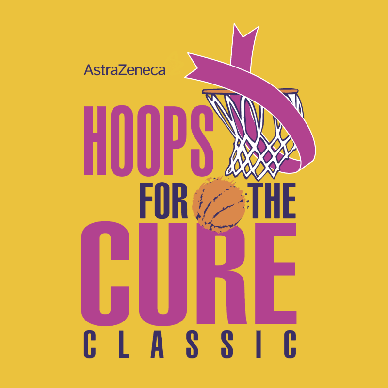 Hoops For The Cure Classic vector