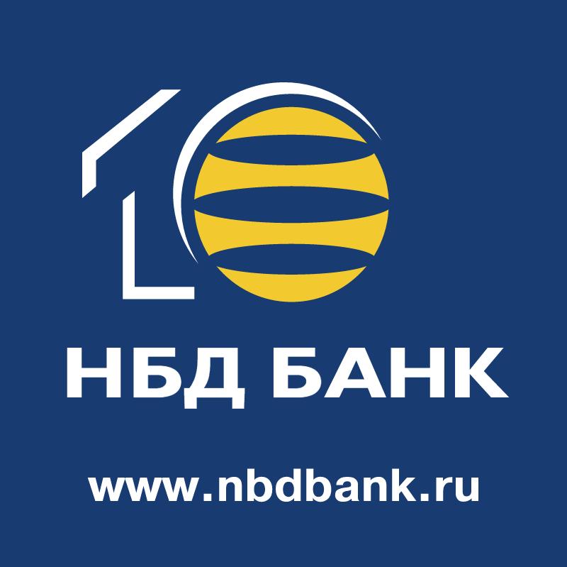 NBD Bank 10 Years vector logo