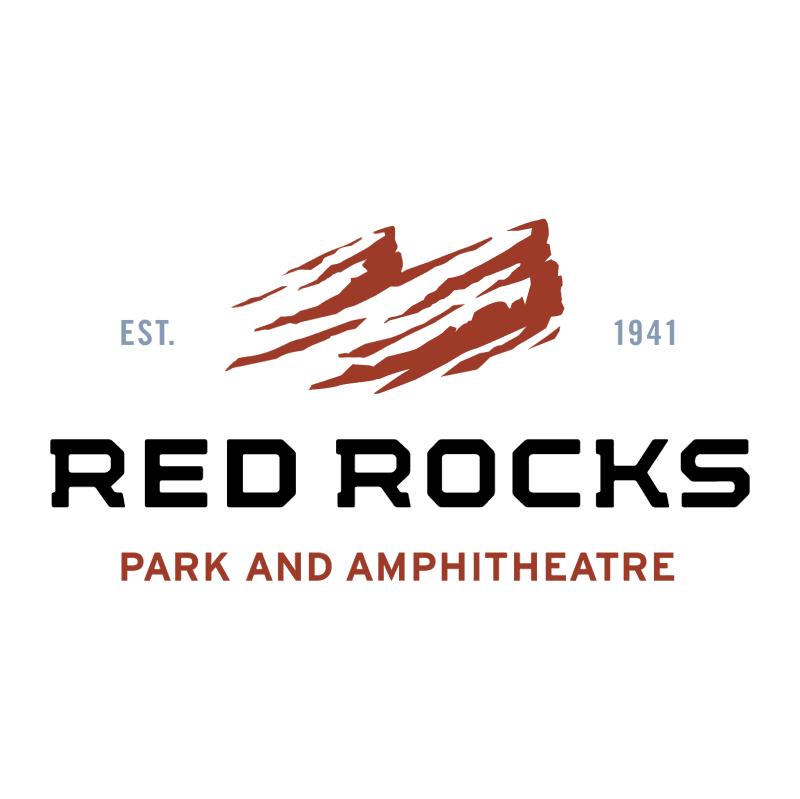 Red Rocks vector logo