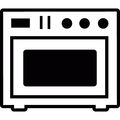 Cooking oven vector logo