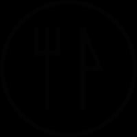 Restaurant round label vector