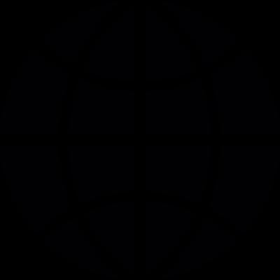 Earth grid vector logo