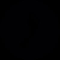 Vintage footprint on round background vector