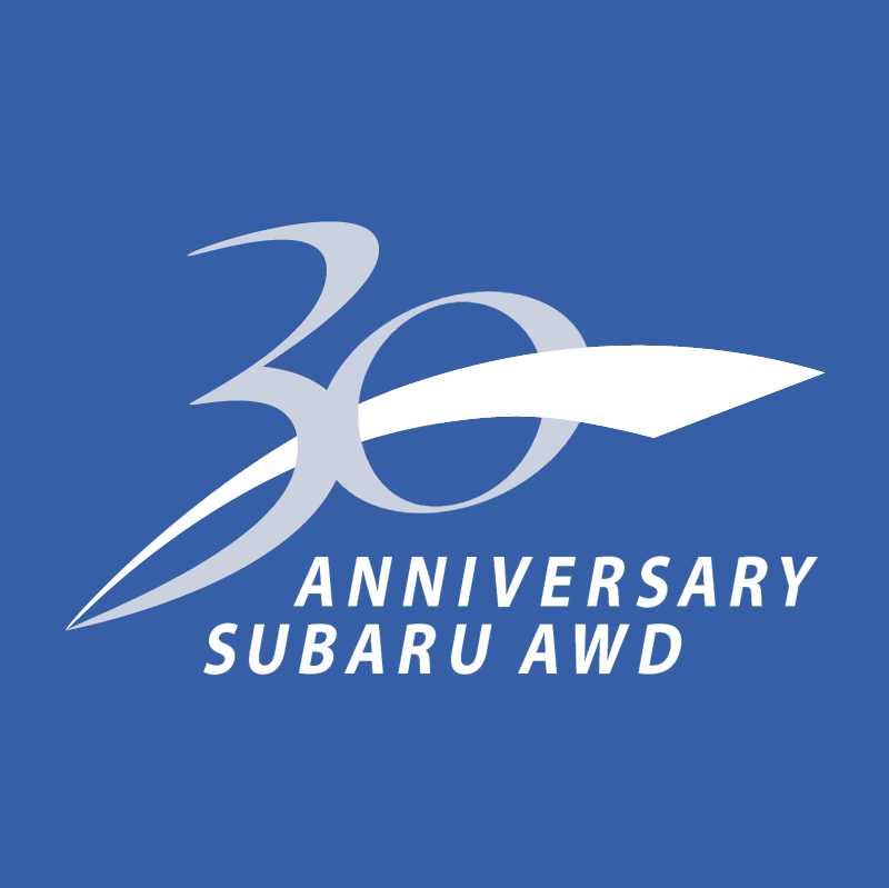 30 Anniversary Subaru AWD vector