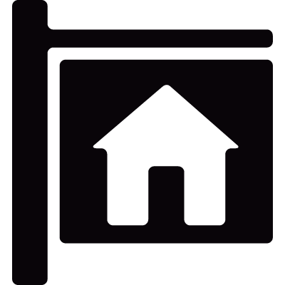 Home Sign vector logo