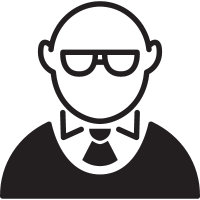 Bald Man with Glasses vector
