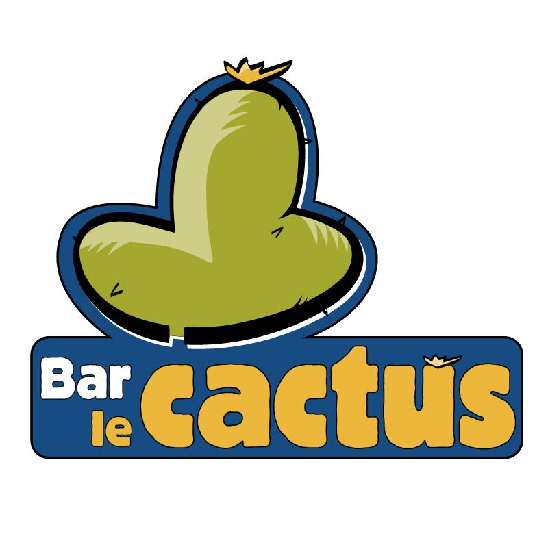 Bar Le Cactus vector