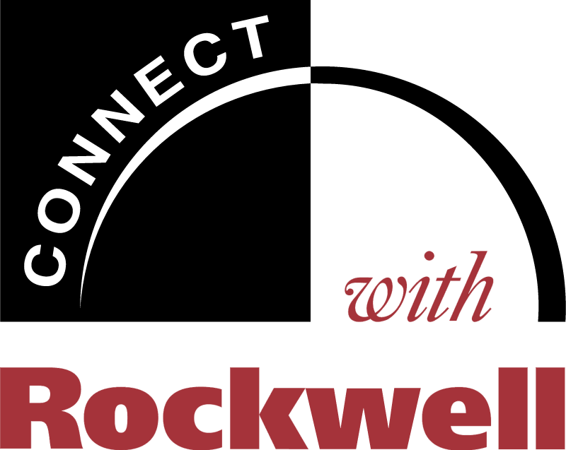 Connect with Rockwell logo vector
