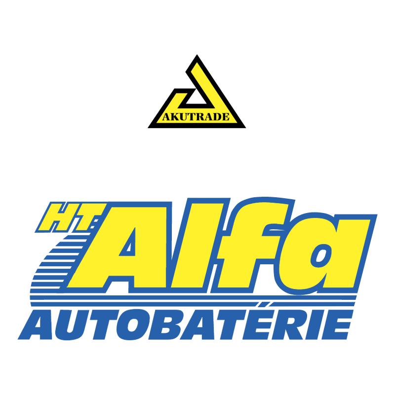HT Alfa Autobaterie vector