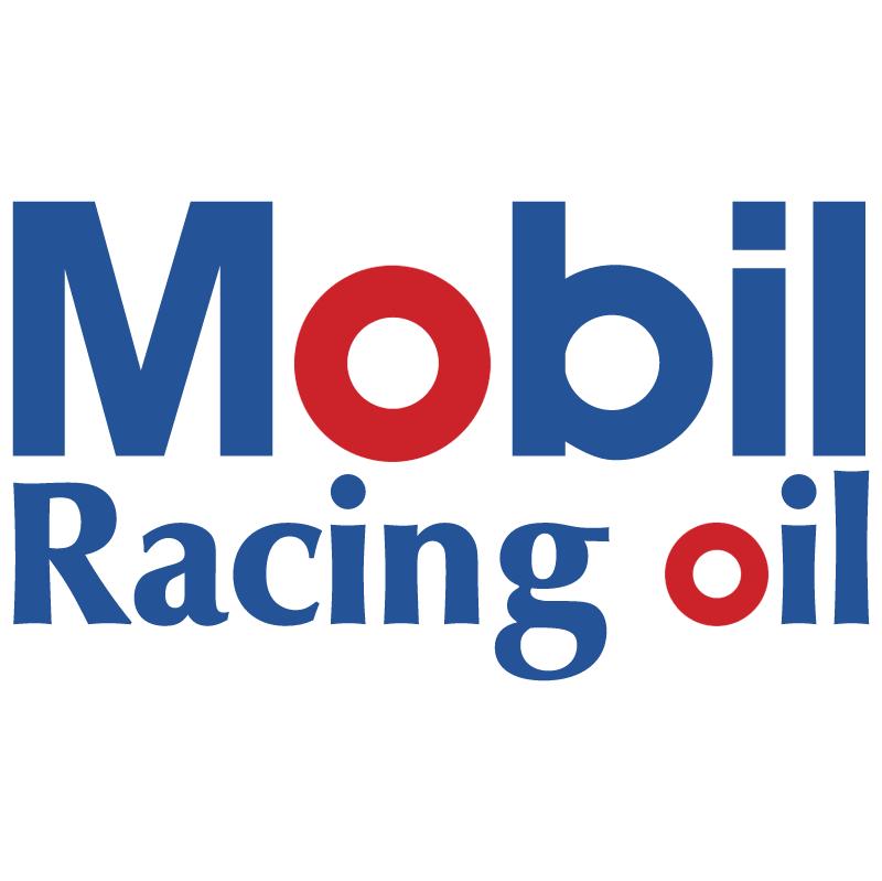 Mobil Racing oil vector