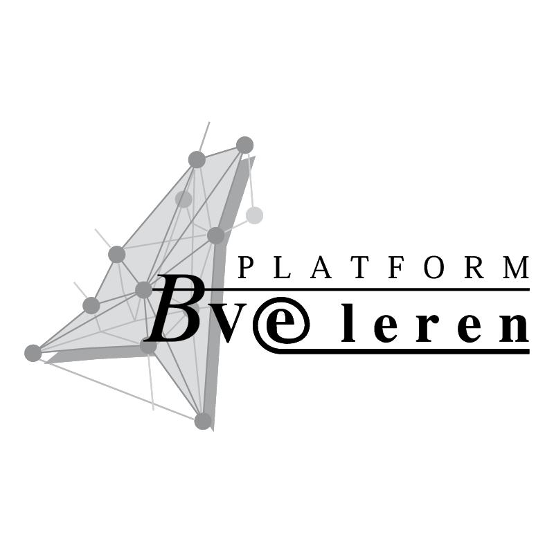 Platform BVE leren vector logo