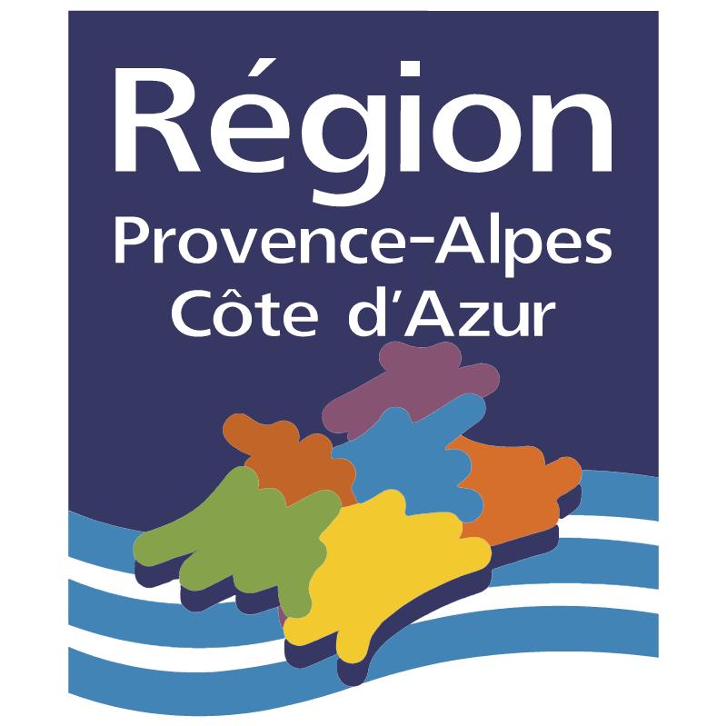 Region Provence Alpes Cote d'Azur vector