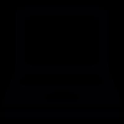 Opened laptop vector logo
