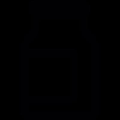 Milk jar with label vector logo