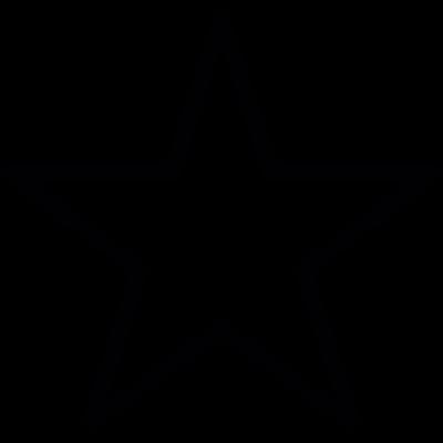 Favourite star shape vector logo