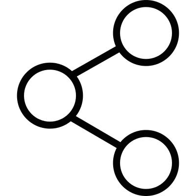Social share sign vector logo